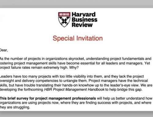 ANR #21: HBR survey on Project Management – Need Your Help